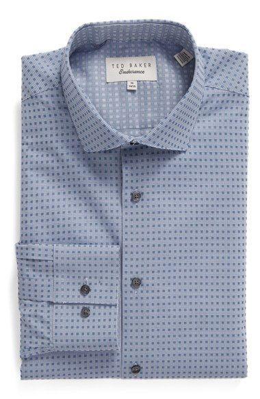 Ted Baker London 'Gurion' Trim Fit Check Dress Shirt