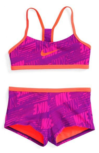 48a10839b93a Nike Two-Piece Racerback Swimsuit (Big Girls) | Swimsuits ...
