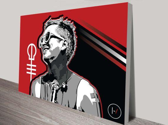 1eb7259b8aeba Tyler Joseph Twenty One Pilots Art Print by knckff on Etsy