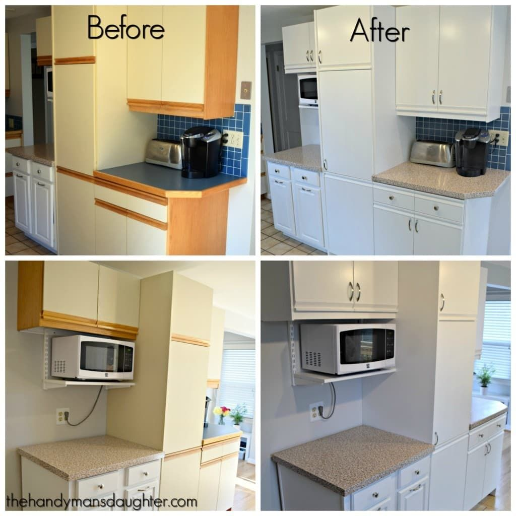 80s Kitchen Update Reveal Laminate Kitchen Cabinets Laminate Kitchen New Kitchen Cabinets