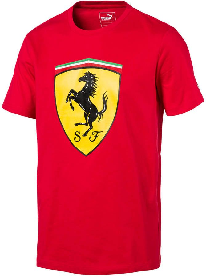 T Puma Men's Shield Big ShirtProducts Mens Ferrari Cotton nPX8wOk0