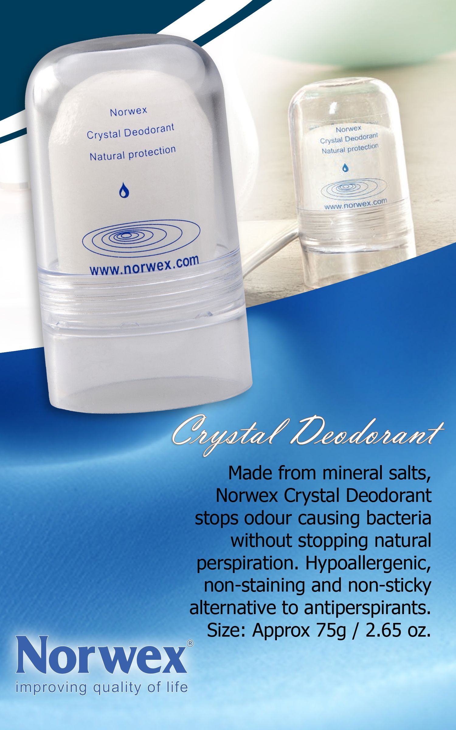 Norwex Deodorant Stone Is Made From Crystallized Natural Mineral