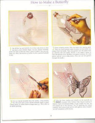 CreazioniMagiche: butterflies with plastic bottles