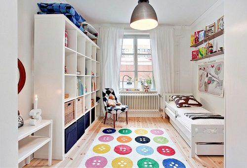 Habitación infantil nórdica; funcionalidad y color con Ikea • Kids ...