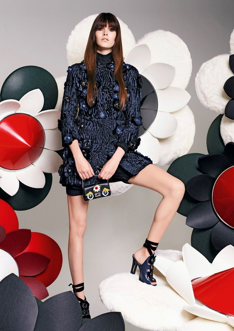 Karl Lagerfeld photographs models Edie Campbell and Vanessa Moody for Fendi S/S 2016 ad campaign [campaign]
