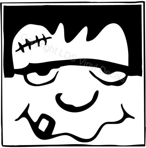 frankenstein clipart black and white google search