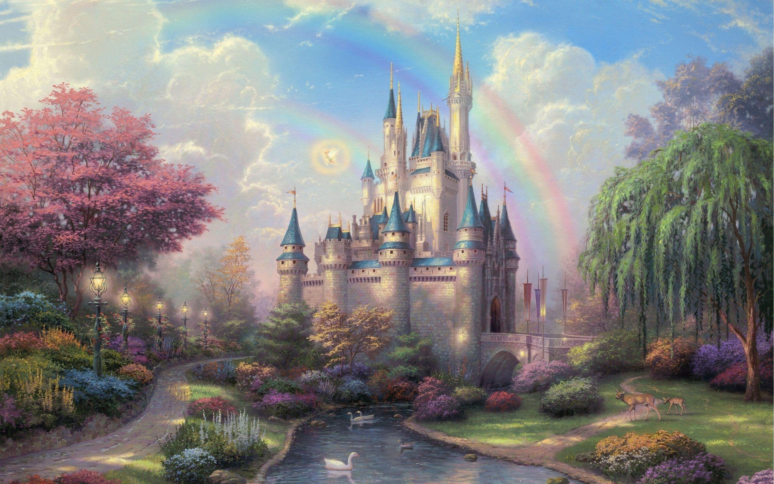 Thomas Kinkade Cinderella Castle Wallpaper