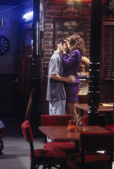 Rachel's fantasy kiss with Chandler ~ Friends ~ Episode