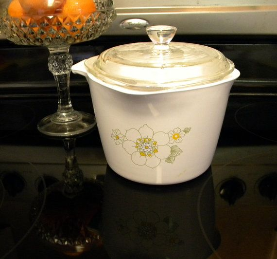 Corningware Saucemaker with lid Floral Bouquet pattern | For the ...