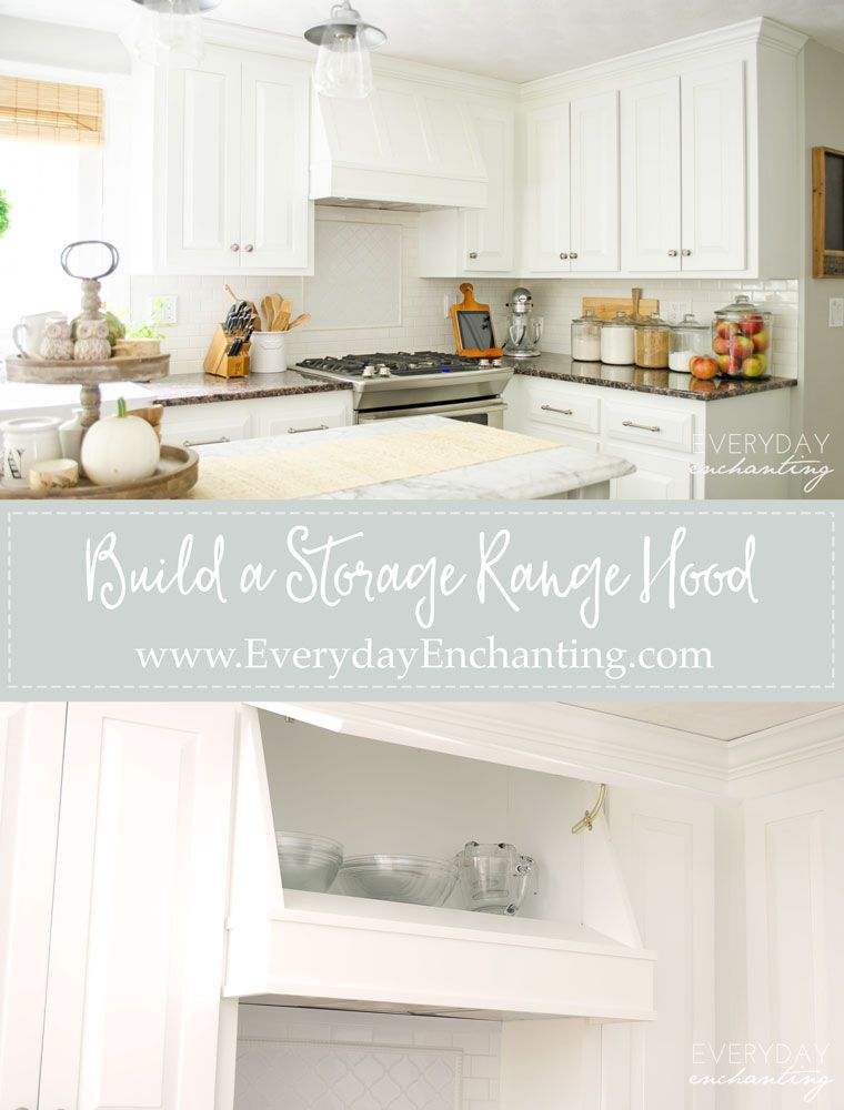 Build Your Own Diy Storage Range Hood At A Fraction Of The Cost Custom Cabinetry
