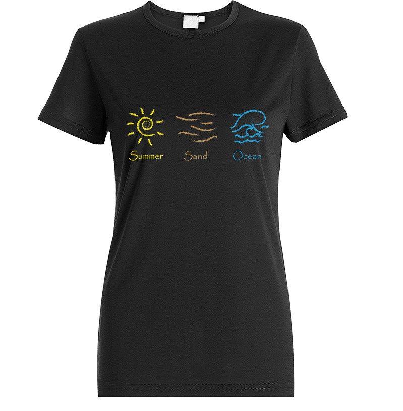 T-Shirt Summer Sand Ocean