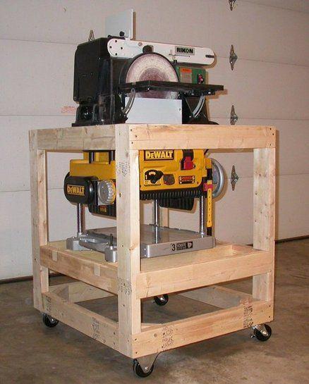 sander planer cart workshop pinterest. Black Bedroom Furniture Sets. Home Design Ideas