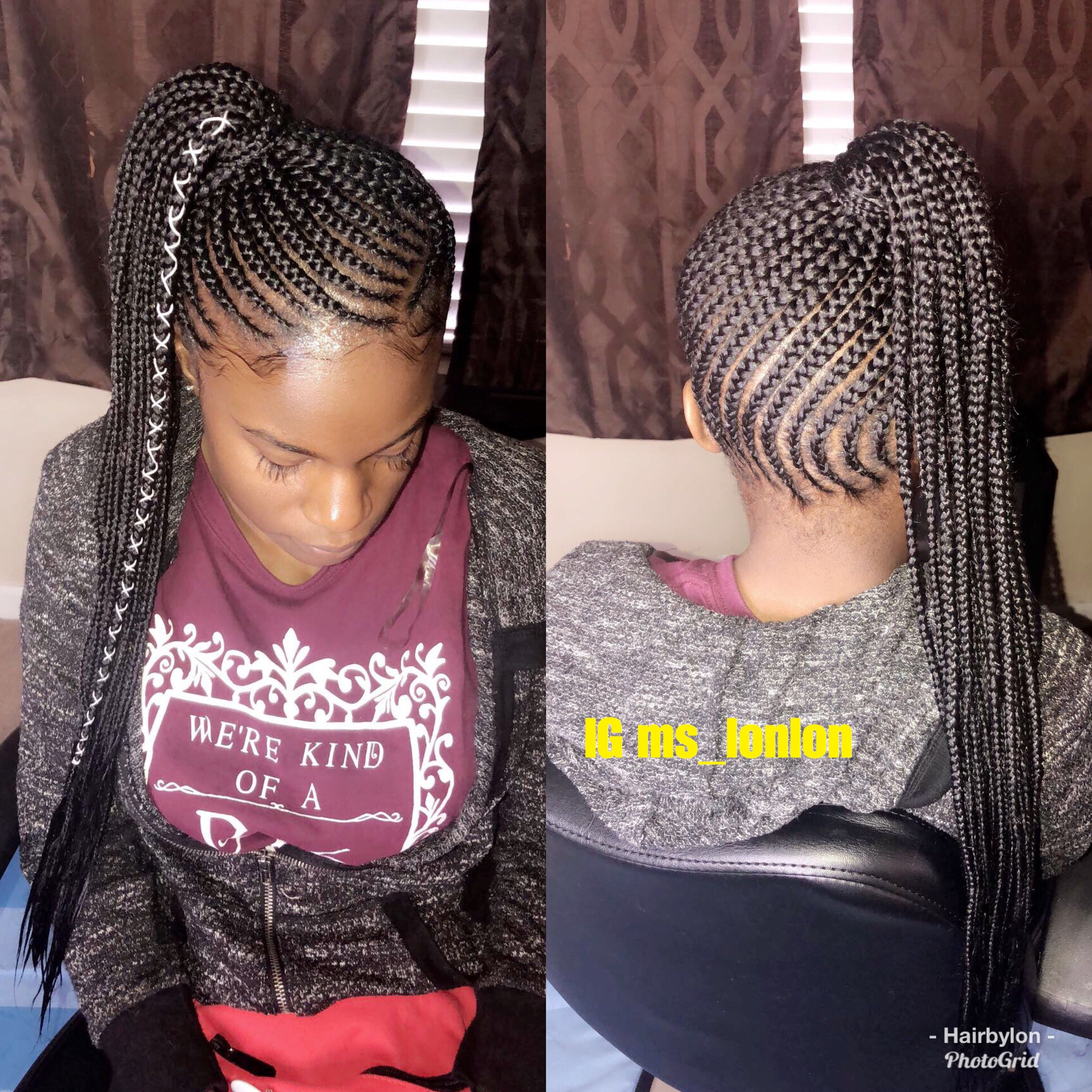 Small Feed In Braids Side Ponytail Feedinbraids Ponytail Smallbraids Boxbraids Sideponytail Ha Side Braid Ponytail Small Feed In Braids Feed In Ponytail