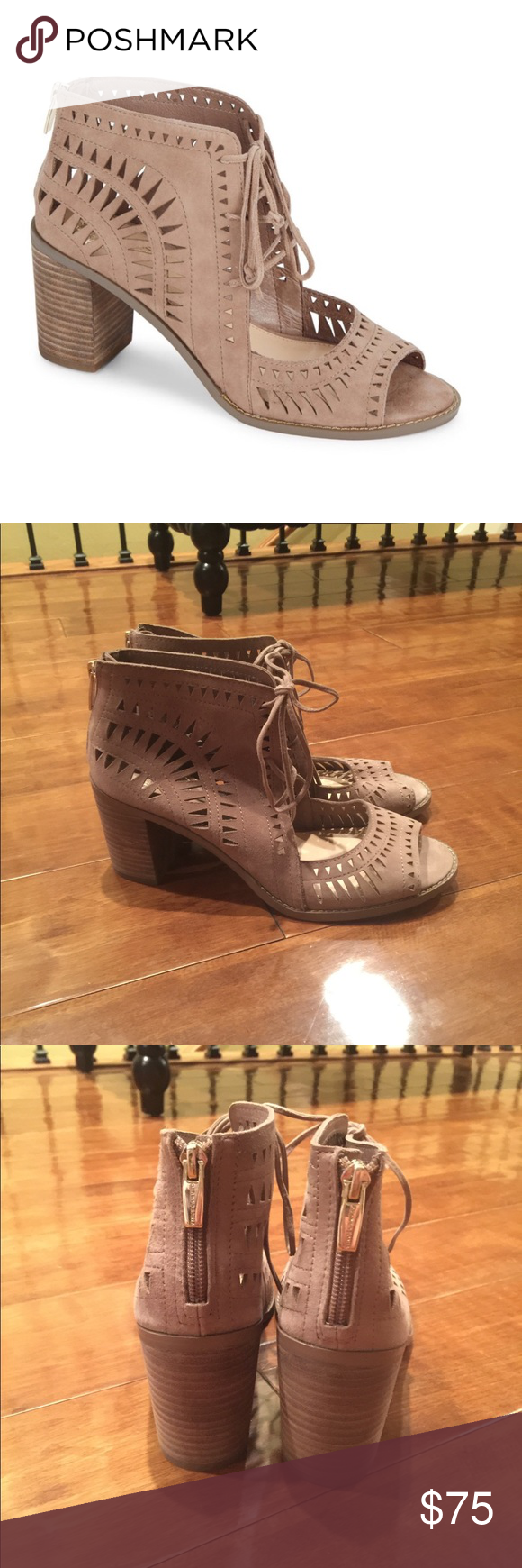 top quality for sale Vince Camuto Suede Cutout Ankle Boots nicekicks online T69JyPM