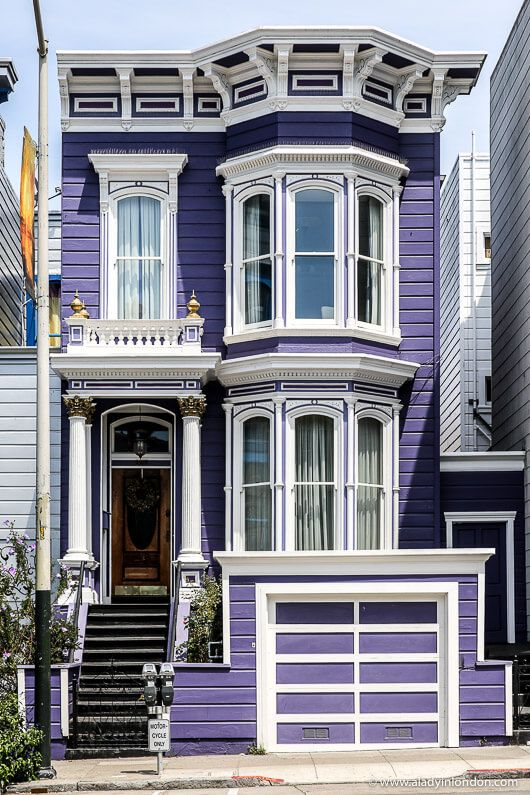 A pretty purple Victorian house in San Francisco, California. This city has amazing historic…