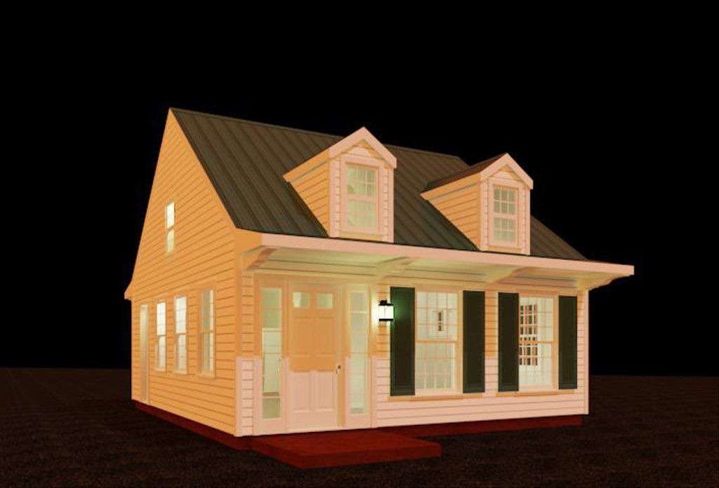 Country Style House Plan 1 Beds 1 Baths 484 Sq Ft Plan 917 32