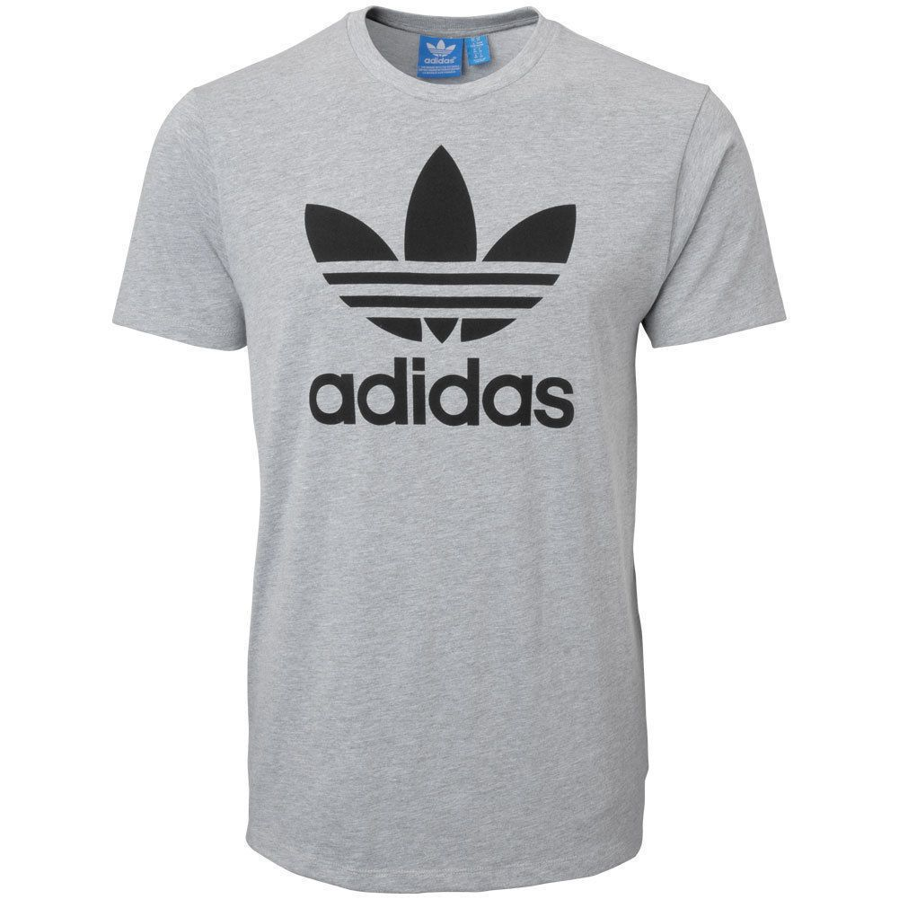 51357e85 Adidas Originals Adi Trefoil T Shirt Men's x Large MSRP$28 00 Color Gray |  eBay