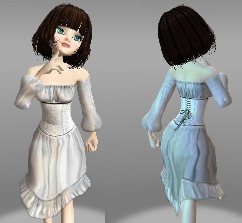 Victorian-White,Corset,Nightish