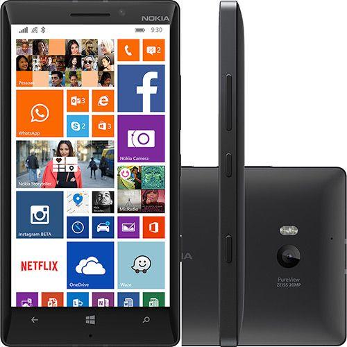 Smartphone Nokia Lumia 930 Desbloqueado TIM Preto Sistema Operacional Windows 8.1 Conexão 4G Câmera 20 MP Memória Interna de 32G  Tecnoshop.ofertou.com - comparativo de preços