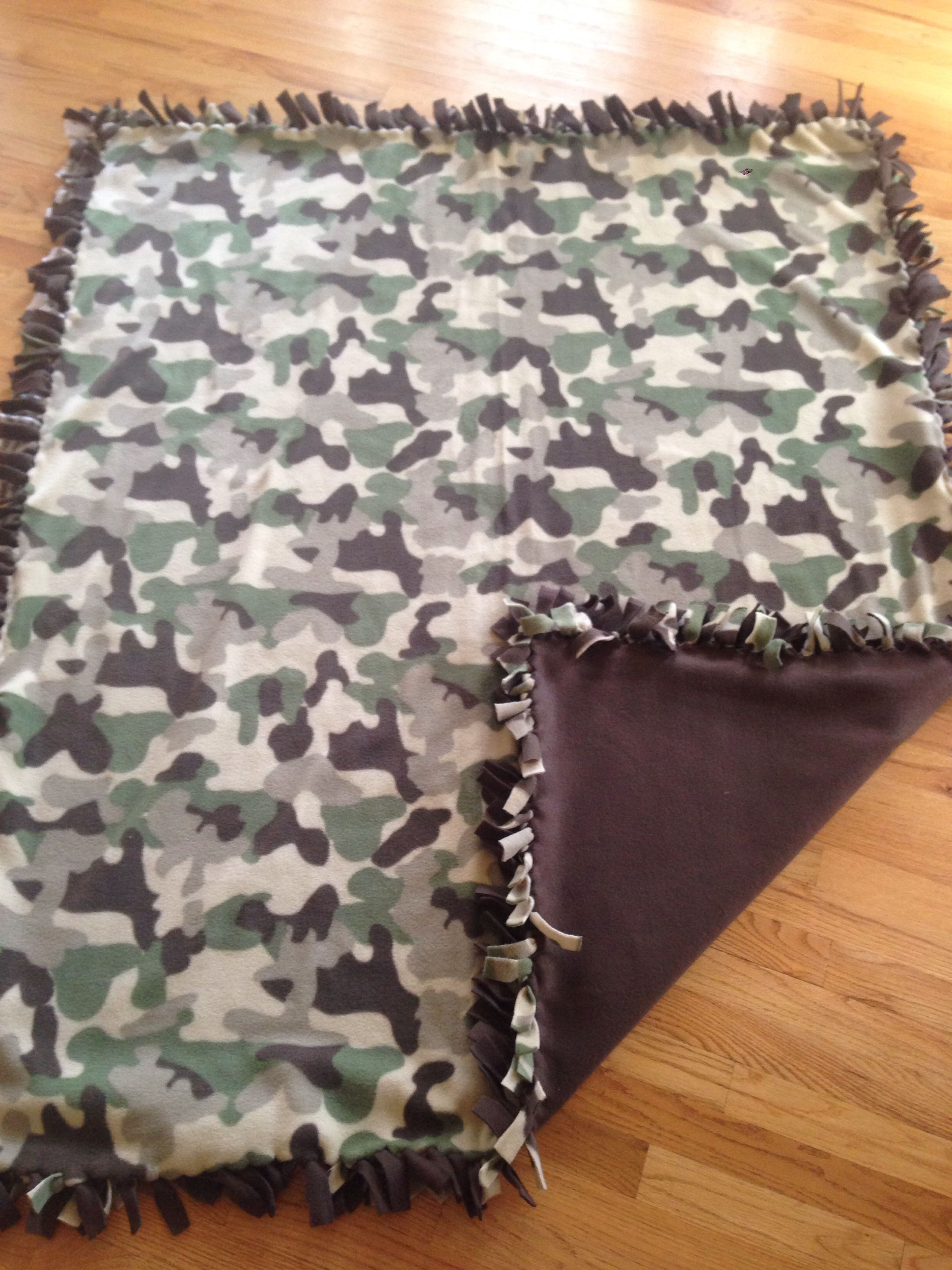 Diy Camo Fleece Blanket Knot Blanket Diy Camo Fashion