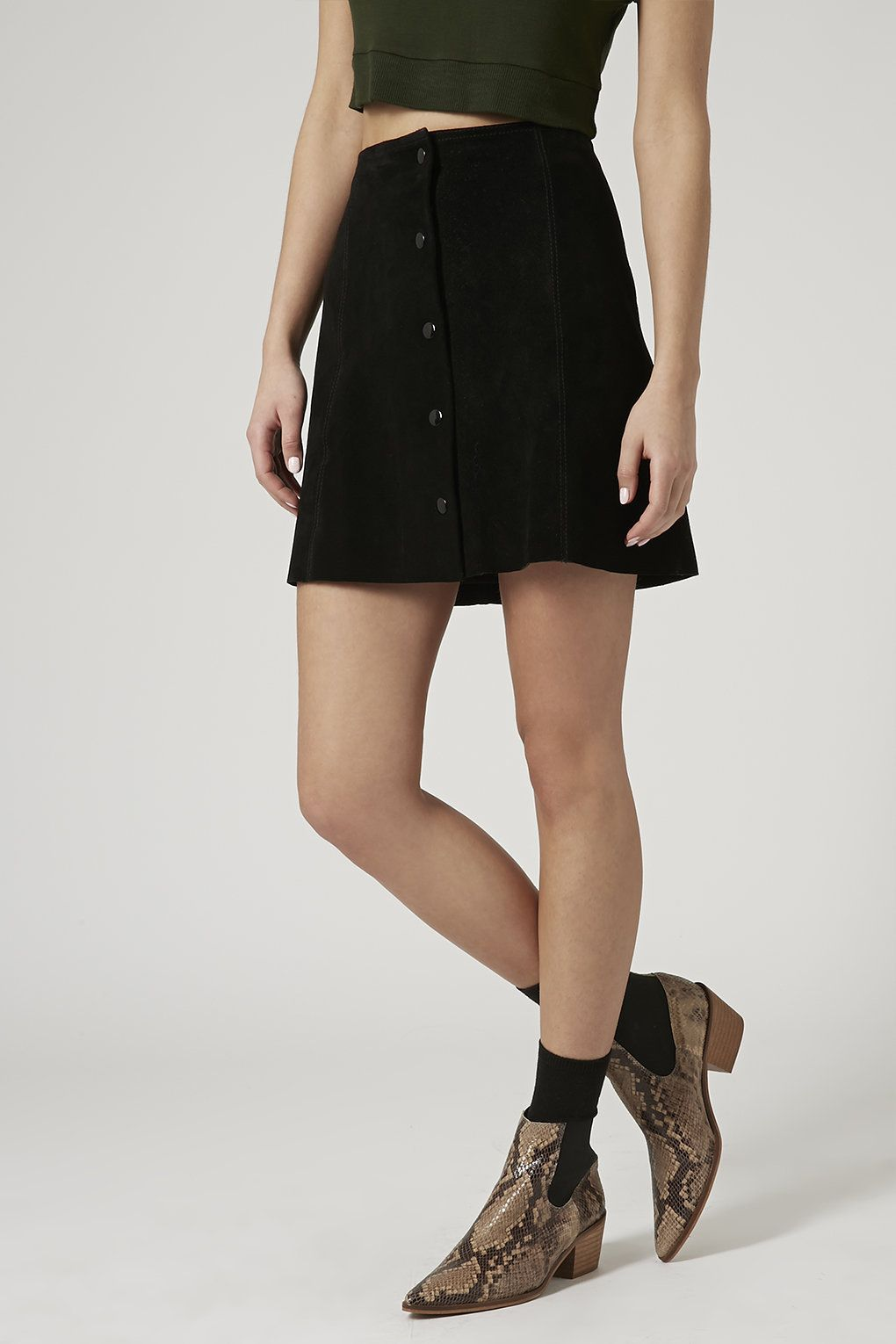 Suede Button Front A-Line Skirt | Skirts, Photos and Chang'e 3