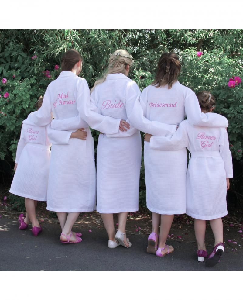 Personalised Bride White Waffle Dressing Gown | Wedding Style ...
