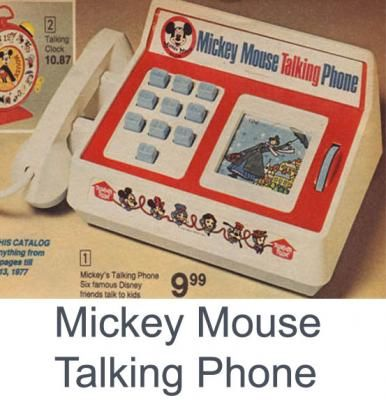 b2643cb7d1b162 Mickey Mouse talking phone. (Oh my goodness! I had this..so happy to run  across it on pinterest and remember)