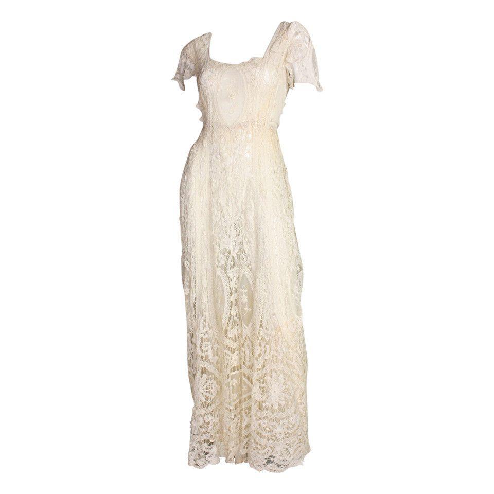 Edwardian Battenburg Lace Dress   Vestiditos