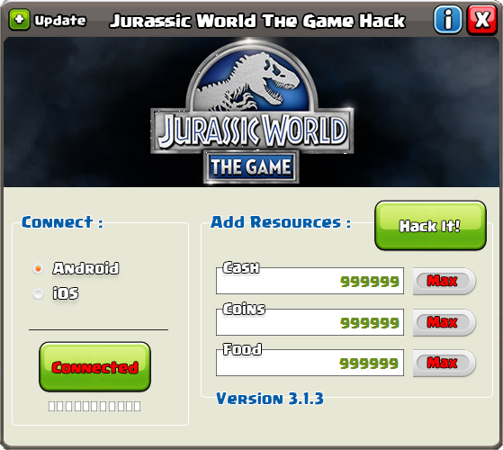 Jurassic World The Game Cheats Get Unlimited Free Free Coins Cash Food And Dna Jurassic World The Game Hack And Chea Game Cheats World Generator Free Games