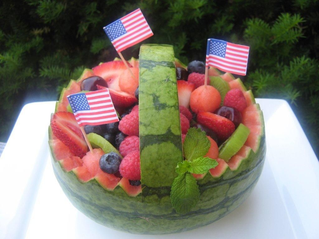Watermelon fruit basket ideas here is a picture of a straight cut