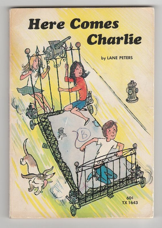 1970s Vintage Childrens Book Here Comes Charlie By Lane Peters