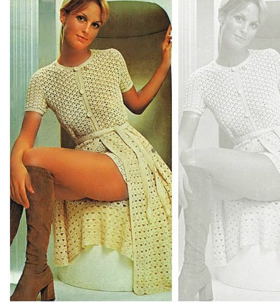 Crochet Dress Pattern Crochet Long Coat Pattern Crochet Shorts ...