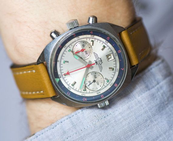 SHTURMANSKIE Chronograph 3133 mechanical Russian air by SovietEra