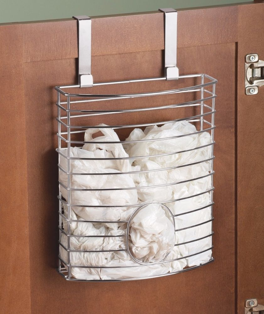 Plastic Bag Holder Dispenser Over The Cabinet Door Bin Kitchen Storage Stainless Plasticbagholder Bagholder Kitchenstorage Cabinetdoor