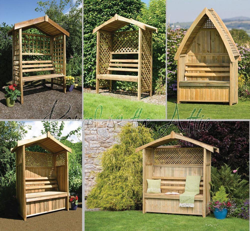 Corner Trellis Ideas Part - 37: Garden Arbour Seat Pergola Trellis Wood Arch Bench Corner Storage Patio  Furnitur In Garden U0026 Patio