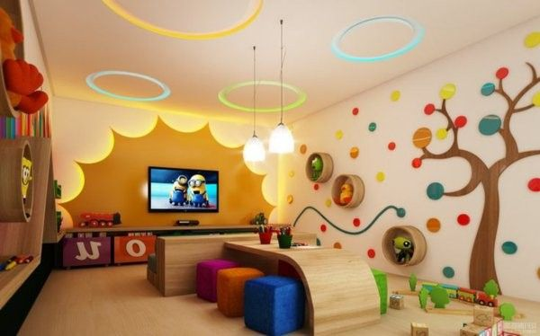 Modern ideas for kindergarten interior pinterest for Creative room decor