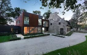 Afbeeldingsresultaat voor oud huis en moderne aanbouw lunteren