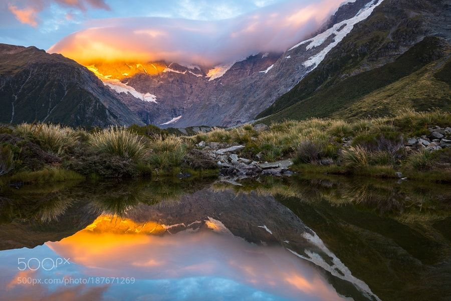 The Hooker Valley. New Zealand by MarcoGrassi. Please Like http://fb.me/go4photos and Follow @go4fotos Thank You. :-)