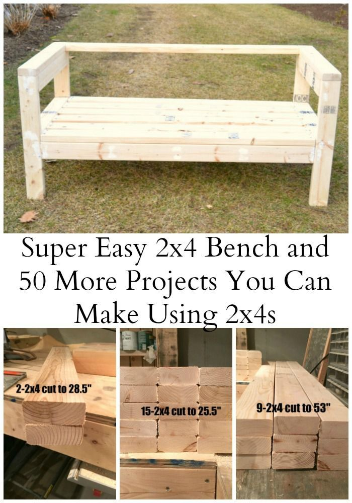 Easiest 2x4 Bench Plans Ever   DIY projects   Diy outdoor ...