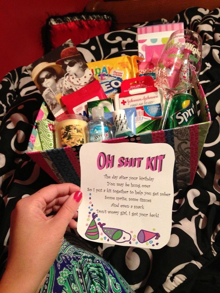 30th Birthday Gifts For Best Friend Basket 21st