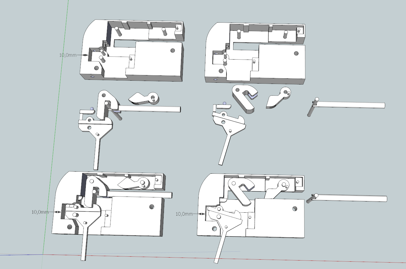how to make a crossbow trigger mechanism