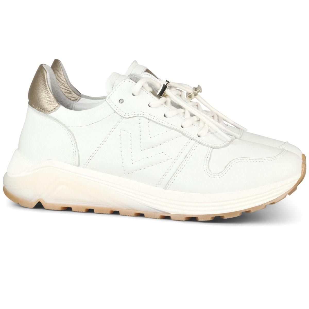 Via Vai Wit leder sneaker (5201063) | Sneaker, Enkellaars