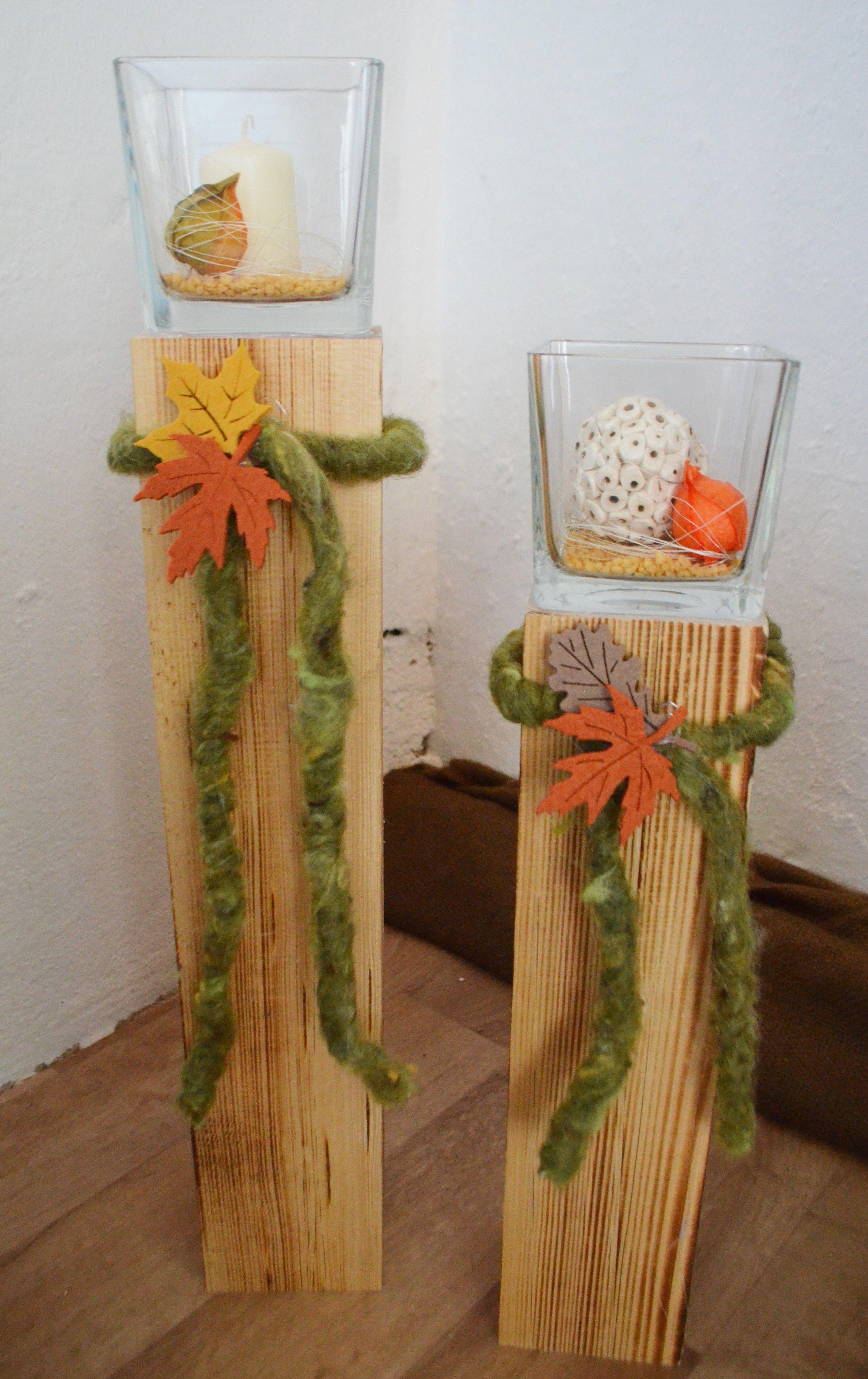 altholz holz deko herbst natur pilz set stellen | holzfüchse herbst