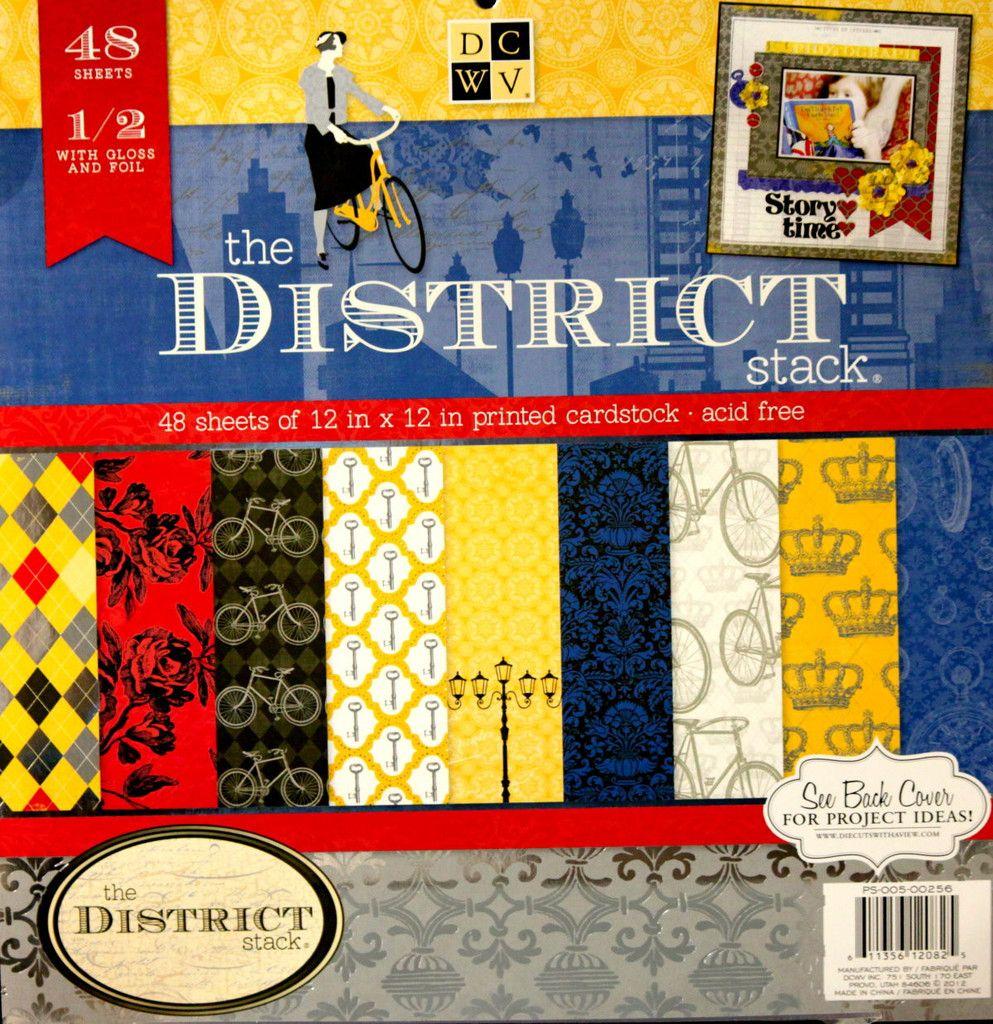 Scrapbook paper cardstock - Dcwv 12 X 12 The District Stack Specialty Cardstock Scrapbook Paper Pad Is Available At Scrapbookfare