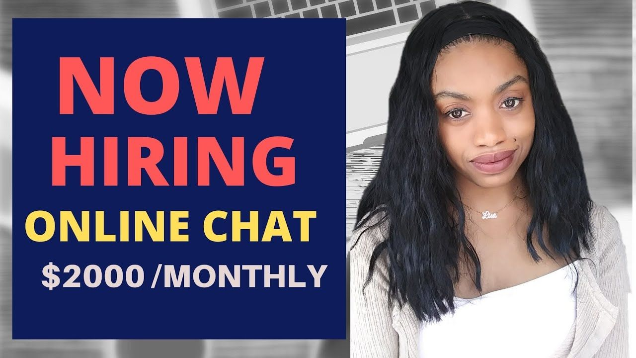 Now hiring online chat agents earn 2000 a month work at