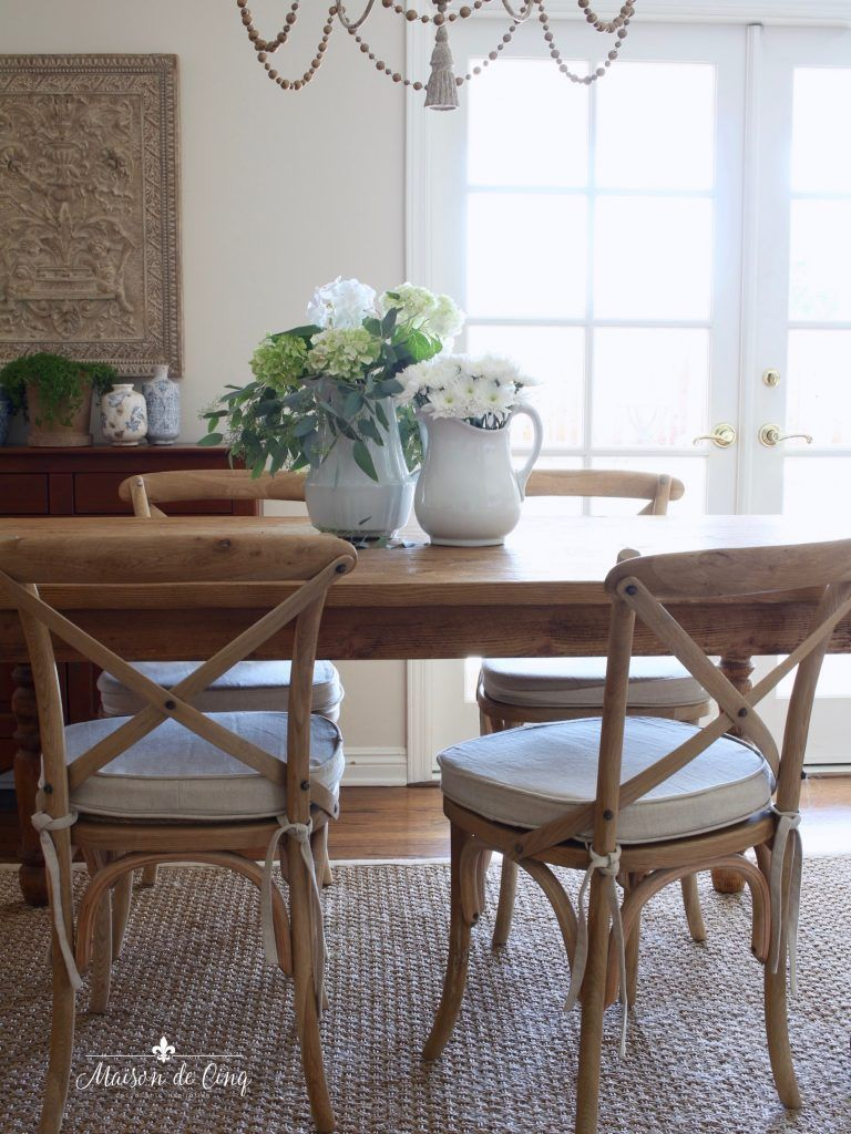 Antique farmhouse table how i chose my breakfast area french cafe chairs  dining room