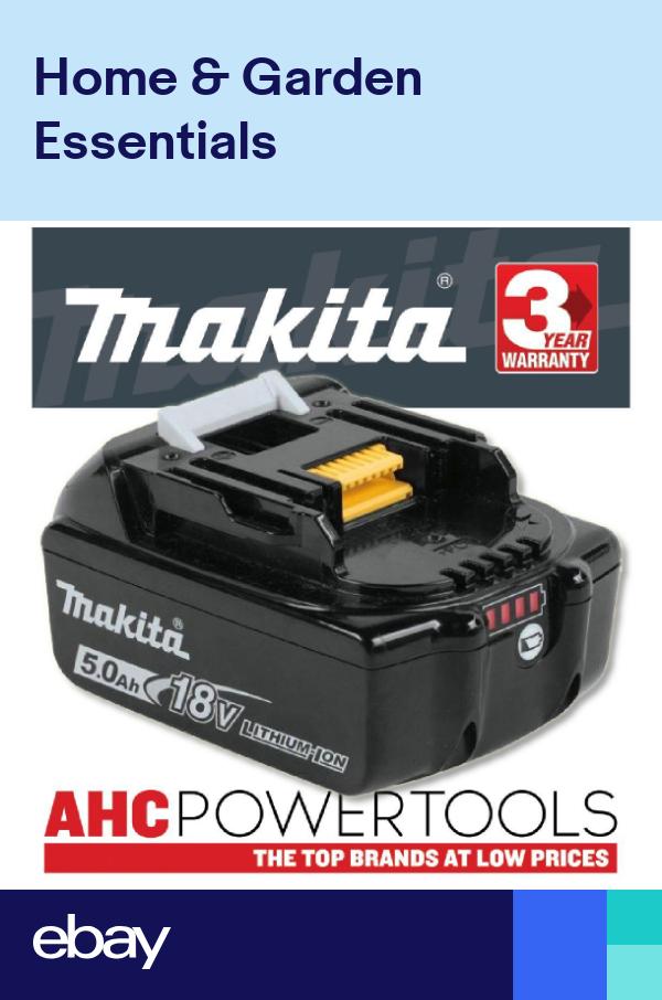 Makita Bl1850b 18v 5 0ah Li Ion Lxt Battery Pack C W Charge Level Indicator Battery Pack Makita Battery