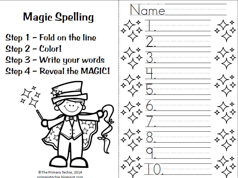 MAGIC SPELLING! One of our favorite ways to practice spelling ...