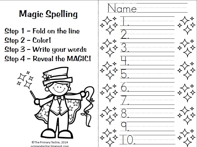 The Primary Techie Magic Spelling Spelling Word Practice Teaching Spelling Spelling Practice