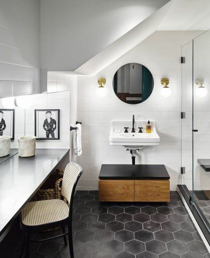 le carrelage hexagonal une tendance qui fait son grand retour bathroom. Black Bedroom Furniture Sets. Home Design Ideas